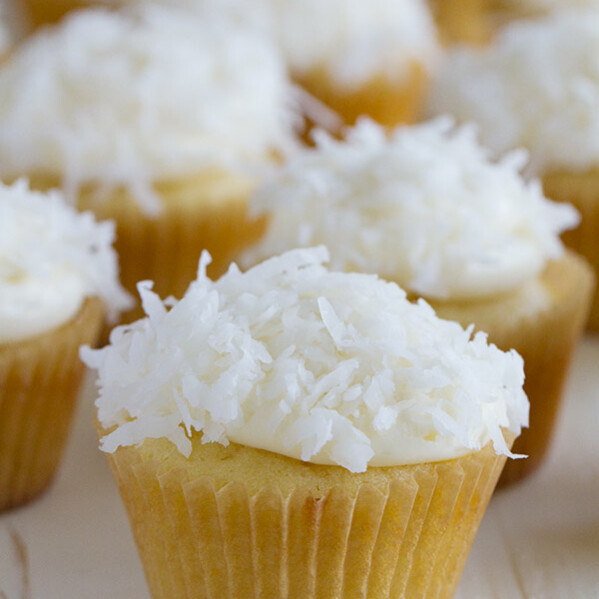 Coconut lovers will go crazy over these Coconut Cupcakes that are perfectly moist coconut cupcakes topped with a cream cheese frosting and even more coconut.