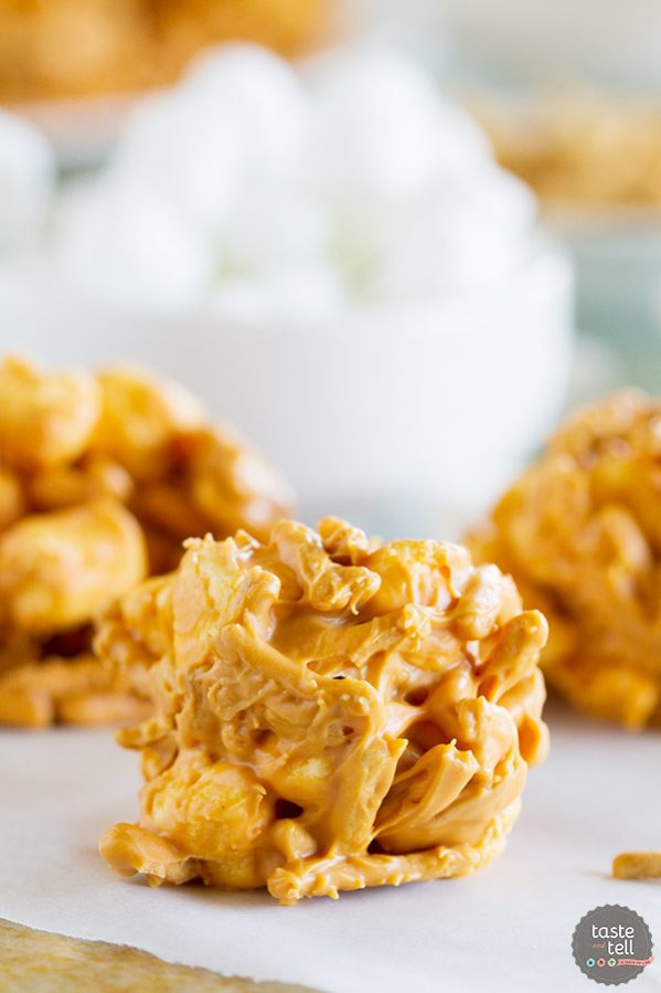 Only 4 ingredients and a few minutes prep, this No Bake Haystacks Recipe takes you back to childhood. Cookies don't get easier than this!