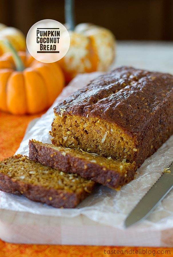 Pumpkin Coconut Bread {Cookbook of the Month Recipe}