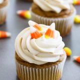 Cupcakes don't get easier than these Quick and Easy Pumpkin Cupcakes! Only 5 ingredients in the cupcakes, these cupcakes are also frosted in my very favorite frosting!