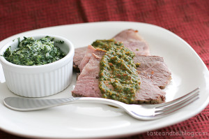 Beef Roast with Spicy Parsley Tomato Sauce on www.tasteandtellblog.com