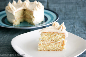 Caramel Cake with Caramelized Butter Frosting from www.tasteandtellblog.com