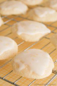 Lemon Ricotta Cookies with Lemon Glaze from www.tasteandtellblog.com