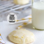 Lemon Ricotta Cookies with Lemon Glaze {Cookbook of the Month Recipe}