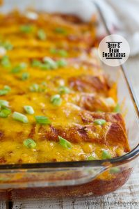 Beef and Bean Enchiladas on Taste and Tell