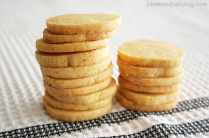 Cheddar Cornmeal Icebox Crackers from www.tasteandtellblog.com
