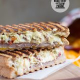 Roast Beef and Slaw Panini on Taste and Tell