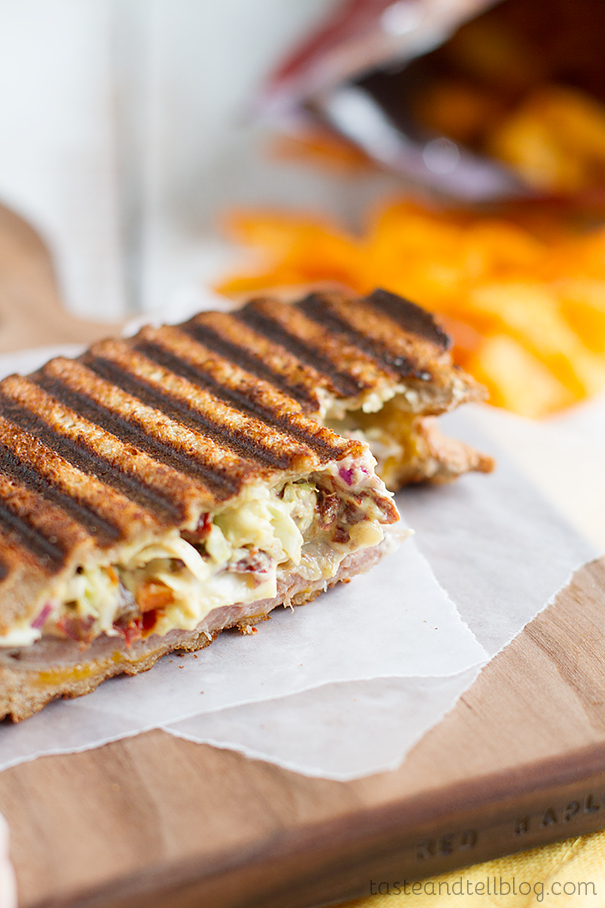 Roast Beef and Slaw Panini