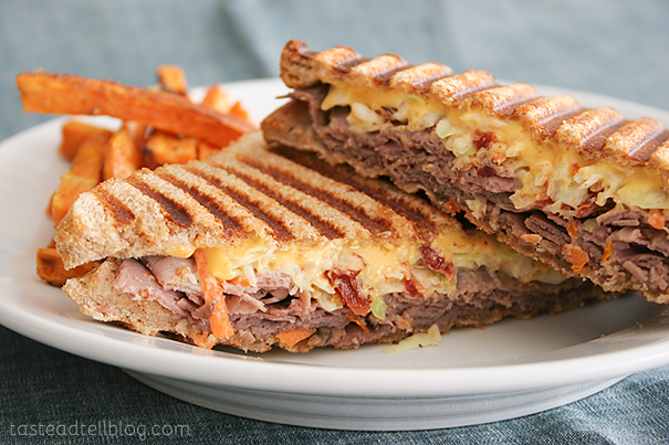 Roast Beef and Slaw Panini | www.tasteandtellblog.com