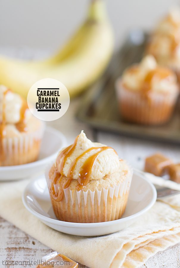 Caramel Banana Cupcakes on Taste and Tell