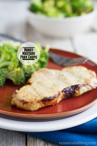 Honey Mustard Pork Chops on Taste and Tell