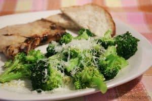 Honey Mustard Pork Chops with Lemon Butter Broccoli | www.tasteandtellblog.com