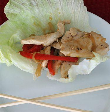 Chicken Stir Fry Wraps | www.tasteandtellblog.com