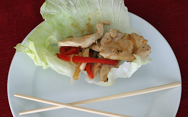 Chicken Stir Fry Wraps | www.tasteandtellblog.com