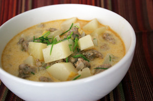 Corn-Sausage Chowder | www.tasteandtellblog.com