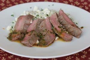 Chipotle Herb Flank Steak with Cilantro Rice   www.tasteandtellblog.com