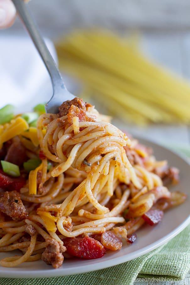 Cowboy Spaghetti Recipe