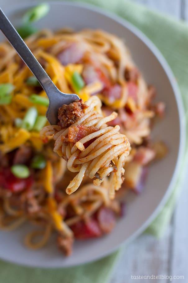 Recipe for Cowboy Spaghetti