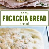 Easy Focaccia Bread Recipe collage