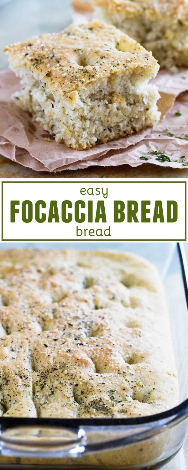It doesn't get easier than this Easy Focaccia Bread Recipe! This bread can be done in under 2 hours, with very little hands on time, making it doable any night of the week!