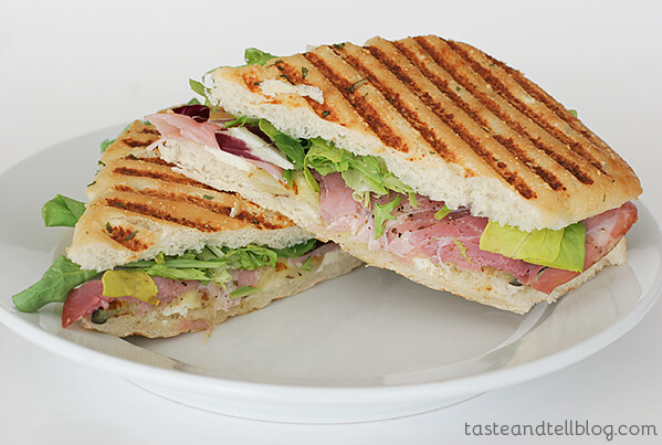 Grilled Eggplant, Proscuitto and Cheese Panini | www.tasteandtellblog.com