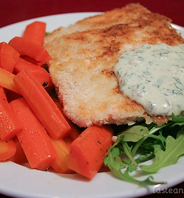 Pan Fried Salmon with Remoulade and Glazed Carrots | www.tasteandtellblog.com