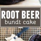Root Beer Bundt Cake collage