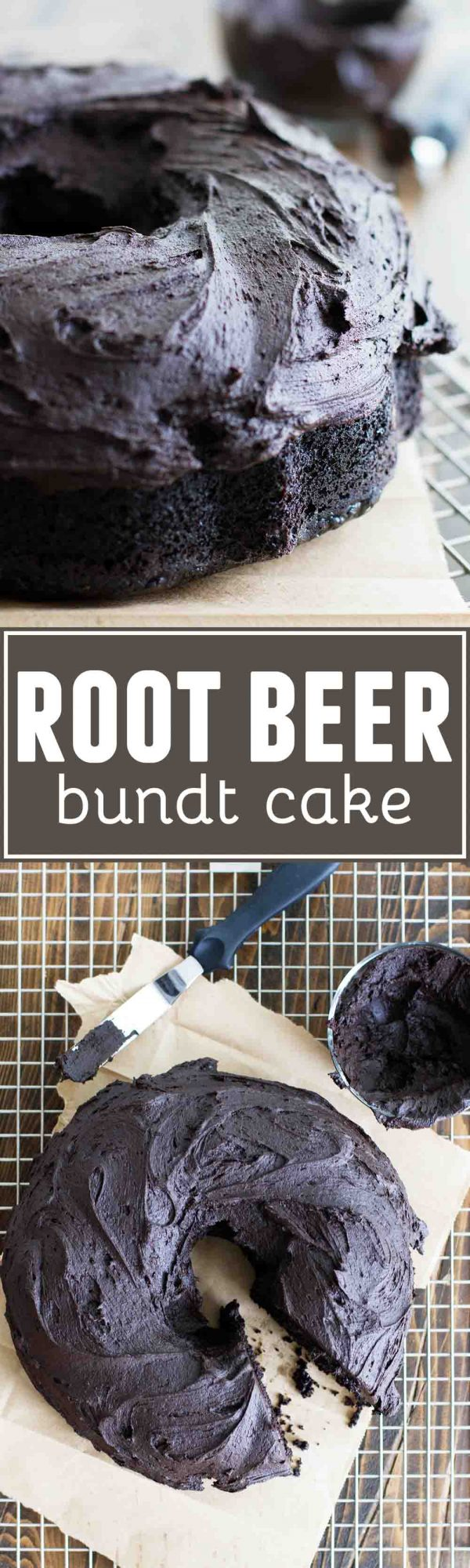 Deep, dark chocolate with a hint of root beer, this Root Beer Bundt Cake is super moist and irresistible. This cake gets even better the second day!
