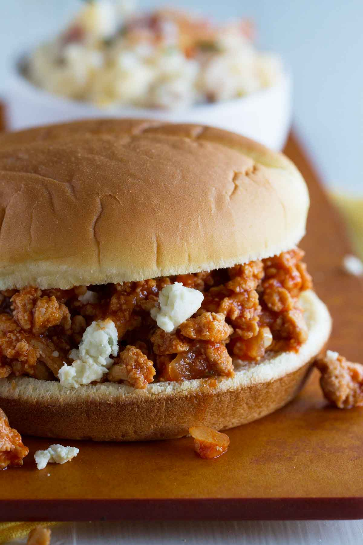 Buffalo Sloppy Joes with Blue Cheese