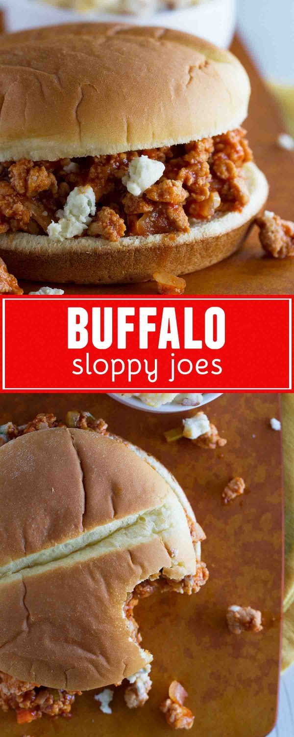 A little bit spicy and packed with flavor, these Buffalo Sloppy Joes are a great dinner idea for wing lovers!