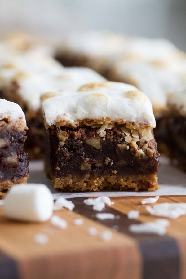 Rocky Road Brownies with Coconut and Toffee