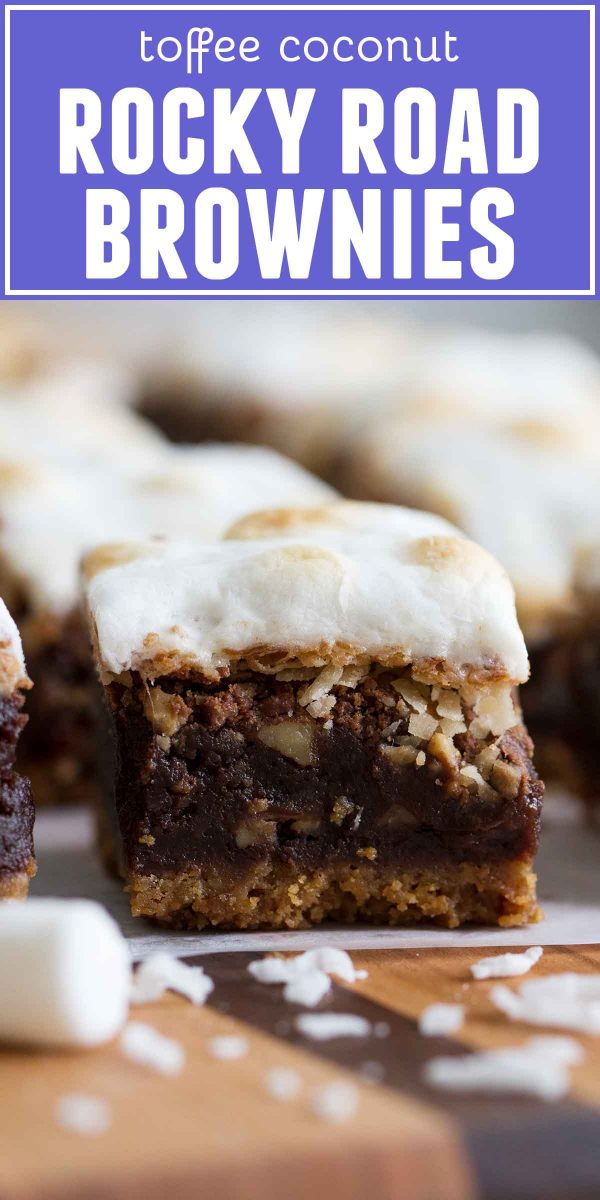 Coconut Toffee Rocky Road Brownies