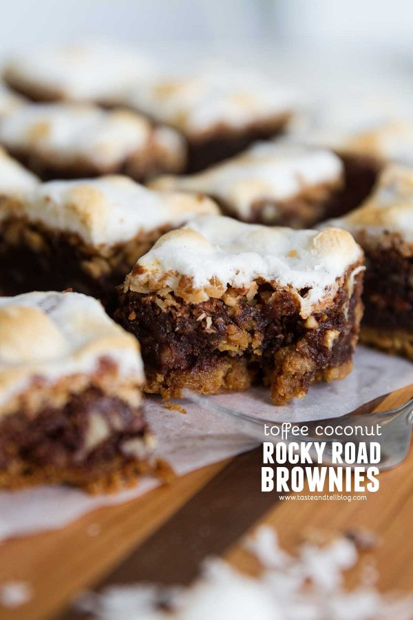 How to Make Coconut Toffee Rocky Road Brownies