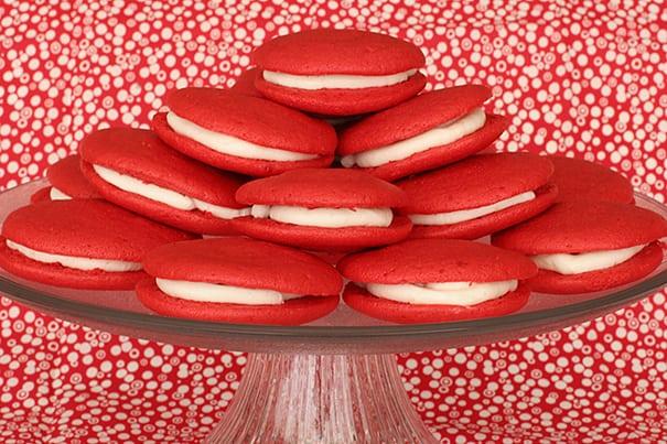 Cousin Johnnies Red Velvet Whoopie Pies   www.tasteandtellblog.com