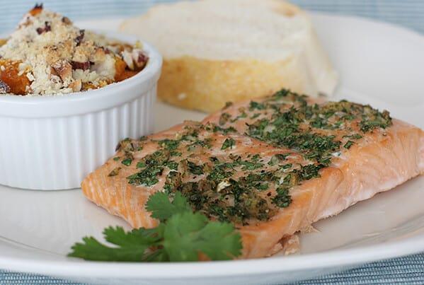 Cumin Coriander Crusted Salmon | www.tasteandtellblog.com