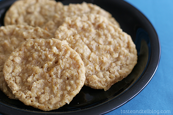 Orange and Oats Cookies | www.tasteandtellblog.com