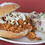 Sloppy Buffalo Joes and Mashed Potato Skins