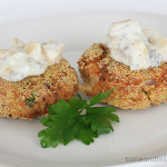 Cookbook of the Month Recipe – Spicy Salmon and Corn Cakes with Mango Tartar Sauce