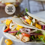 Fiesta Chicken Tacos with Mango and Jicama Salad on Taste and Tell