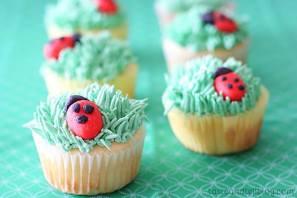 Ladybug Cupcakes | www.tasteandtellblog.com