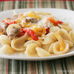 Orecchiette with Sausage and Roasted Peppers