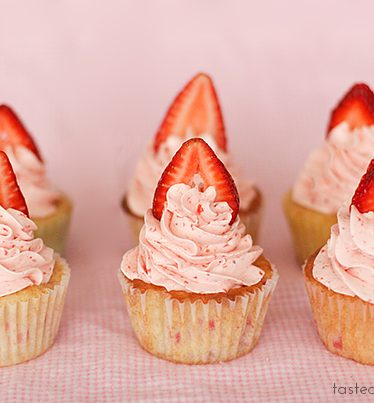 Strawberry Cupcakes | www.tasteandtellblog.com