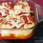 Three Cheese and Chicken Stuffed Shells | www.tasteandtellblog.com