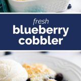 Homemade Blueberry Cobbler