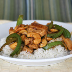Chinese Orange Barbecue Cashew Chicken | www.tasteandtellblog.com