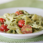 Cookbook of the Month Recipe – Pasta with Pesto, Feta & Cherry Tomatoes & July Cookbook of the Month Review