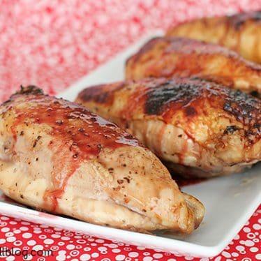 Pomegranate Glazed Chicken | www.tasteandtellblog.com