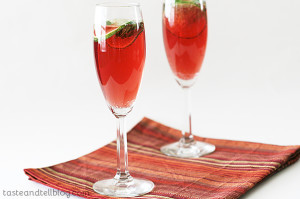 Virgin Pomegranate and Cranberry Bellinis | www.tasteandtellblog.com