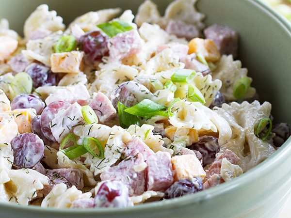 Looking for the best pasta salad recipe? Allison's Best Pasta Salad is a little bit different than your typical pasta salad recipe, and a salad you'll want to make year after year!