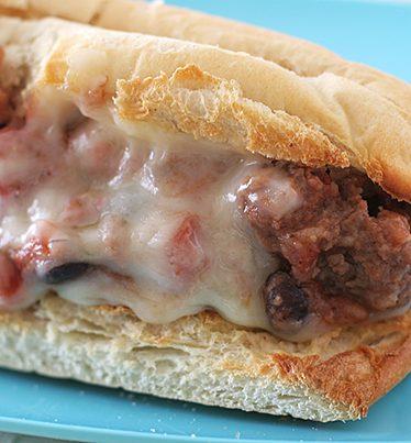 Chili Meatball Subs | www.tasteandtellblog.com